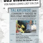 Rostock: GlobalLokal-Talk über Community Radios in Indonesien